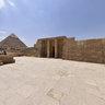 The Giza Plateau from the tomb of Senegemib Inti