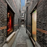 Narrow alleys in Xintiandi