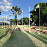 Brazil, Cascavel, square of the migrant