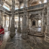 Interior of the Jain temple at Ranakpur