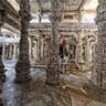 Ranakpur Temple with stone elephant