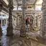 Ranakpur Temple with stone elephant