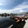 Houseboats on Dal Lake, Srinagar, Kashmir, India