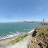 New View of Golden Gate Bridge, cliffs, Pacific, Ocean
