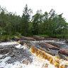 Flammafallet - waterfall near Laholm in southern Sweden