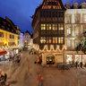 Strasbourg, Cathedrale et Maison Kammerzell pendant le marche de Noel