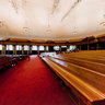 Interior of the Tabernacle on Temple Square, Salt Lake City, Utah USA
