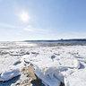 Frozen, Sandy Hook Bay, New Jersey