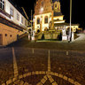 Aschaffenburg Stiftsplatz bei Nacht 2011