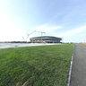 Near the construction site of new stadium