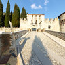 Brescia castle-outside of drawbridge-