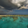 Ilot Maitre Marine Reserve New Caledonia Helicopter View