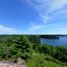 High above Bear Lake in Killarney Provincial Park, Ontario Canada