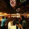 New Year's Fireworks Sao Jose do Rio Preto