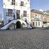 Marktplatz mit Rathaus in Isselburg / Anholt