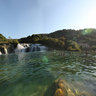 Krka national park At the waterfall