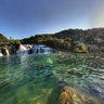 Krka national park At the waterfall HDR