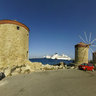 Rhodes harbour - the 3 windmills