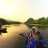 Travelling By Boat On Yen Stream, Huong pagoda, Hanoi