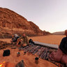 The Sinai Desert - The Team resting up near Wadi Rum, Egypt