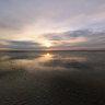 Mudflats - a sunrise walk to Minsener Oog Island
