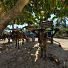 Taxi Stand on Gili Air, Indonesia