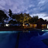 Oceans 5 Pool at night, Gili Air