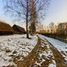 Ethnographic open-air museum in Ochla (lubuskie), Poland