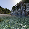 Petromelisso Beach In The Sea Pylio Greece