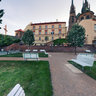 St. Peter's cathedral gardens, Brno