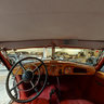 Interior of the Horch 853 Sport Cabriolet at the Riga Motormuseum, Latvia