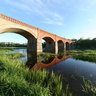 The old bridge in Kuldiga, Latvia