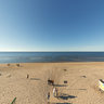 View over the Lielupe beach, Jurmala, Latvia