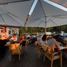 Sunset dinner at 36. Line - beach restaurant in Jurmala, Latvia