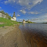Pskov Kremlin, the confluence of the rivers Pskovа and the Velikaya
