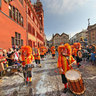 Carnival in Basel on Monday, also called Cortege