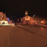 City center Azov at night