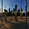 The Federation Bells Sculpture Garden at Birrarung Marr