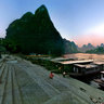 Lijiang river scenery——An evening at Xingping terminal