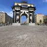 Moscow Triumphal Gate. West side.
