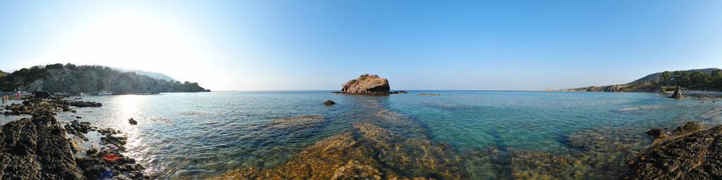 Akamas beach - rock